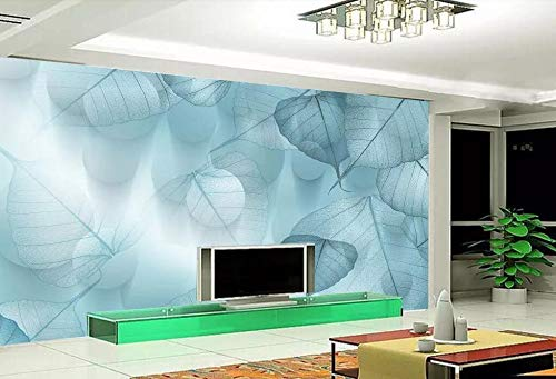 Minyose Custom wallpaper mural modern elegant European dream 3D leaves silhouette dot background wall 3D wallpaper for walls-450cmx300cm -
