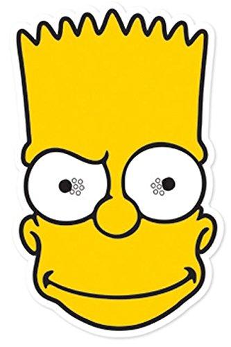 Star Cutouts Bedruckte Gesichtsmaske von Bart Simpson - Bart-maske