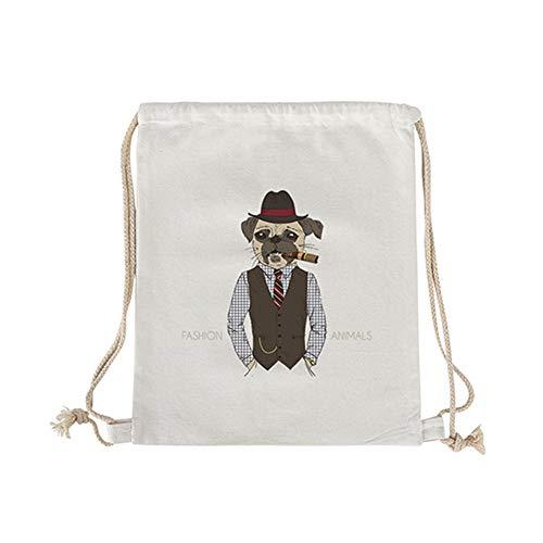 VHVCX Canvas Schnür Öffnen Frau String Rucksack Laptop-Tasche Logo Handy-Tasche Harte Griffband, Skt-038