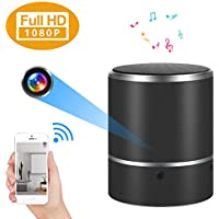 WIFI Hidden Camera Bluetooth Speaker 1080P Spy Camera with 180°Rotate Lens and Motion Detection