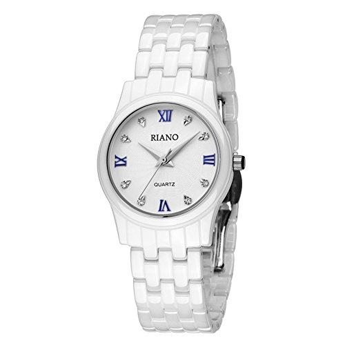 Weiße Keramikuhr/ Einfache studentischen Uhren/ ultra dünnen Quarz-Uhr-B