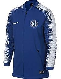 Nike CFC M NK ANTHM FB JKT Jacket, Hombre, Rush Blue/White/