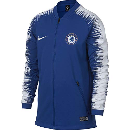 Nike CFC M NK ANTHM FB JKT Chaqueta Chelsea Football Club, Hombre, Azul (Rush Blue/White/White), M