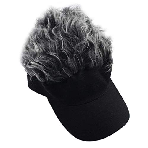 uen Fake Flair Haar Baseball Cap Sonnenblende Spaß Halloween Christmas Party Toupee Hut einstellbar Neuheit Geschenk langlebig und praktisch ()