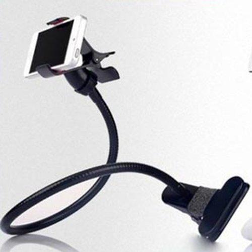 System-S Universal Halter Flexibler Tisch & Bett Schwanenhals Haltearm Halterung für Smartphone Handy - Gooseneck Schreibtisch-tisch-lampe