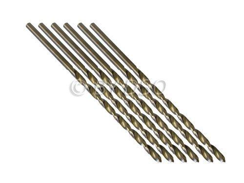 Professional 5 Piece 4mm HSS 4241 Long Straight Shank Twist Drill Bits DR050 Test