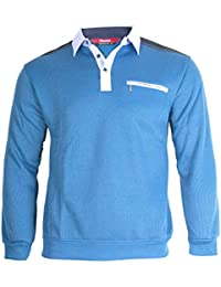 Soltice Herren Langarm Sweatshirt, Poloshirt, Polohemd, Blousonshirts mit  Kragen (M bis 3XL c822e13106