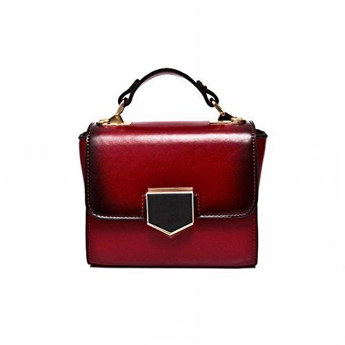 kettenhandtasche diagonale Weibliche art und weisedamen Kurierbeutel Rot