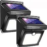 Luposwiten Solarleuchten für Aussen,28 LED Solarlampen mit Bewegungsmelder Wasserdicht Solarlicht Lichter für Garten, Wand, Flur, Patio, Treppen, Hof, Einfahrt, Gehwegen Sicherheitsleuchten [2 Stück]