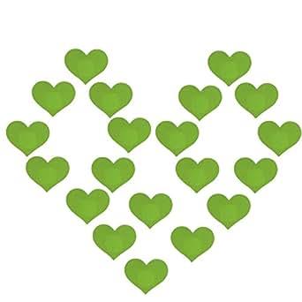 Creamlin 10Pairs Sexy Heart Pasties One-off Nipple Copre l'adesivo del reggiseno del seno (verde)