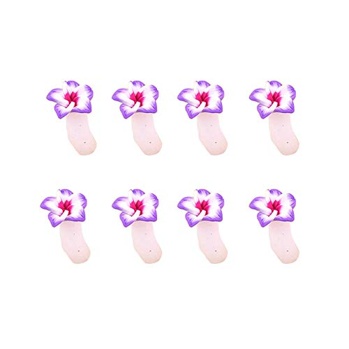 Qjiaxing manicure chiodo silice gel splitter fiore pattern toe raddrizzatore separatore,pink