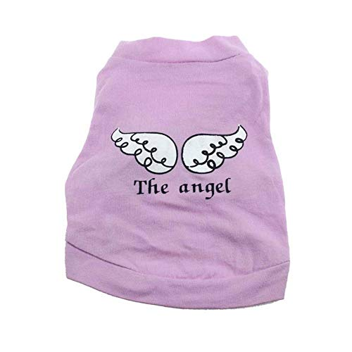 JKRTR Neues nettes Haustier-Hündchen kleidet Engels-Flügel-Muster-T-Shirt (Engel Kostüm Muster)