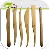 Modellierhölzer Modellierwerkzeug 6 er Set Grundsortiment Länge ca. 15cm