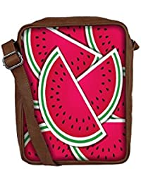 Snoogg Watermelon Wedge Background Card In Vector Format Sling Bags Crossbody Backpack Chest Day Pack Travel Bag...
