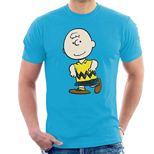 Peanuts Charlie Brown Men's T-Shirt (Brown Charlie Schwester)