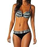 Makalon Damen Sexy Mode Badebekleidung Solidefarbe Abnehmbarer Sport Dreieck Bikini Einstellen Mädchen Stilvoll Tankini Frauen Rückenfrei Zwei Stück Komfortabler Badeanzug Monokini