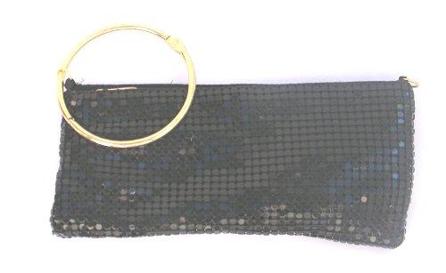 mm-Accessoires Mesh Abendtasche Clutch Abi mit großem Ring 21x10cm (Abendtasche Mesh)