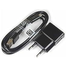 """Theoutlettablet® Cargador de Pared USB con cable micro usb Negro wall charger para Smartphone BQ Aquaris M5 / X5 Plus / U5 / V / V PLUS - Tablet Bq Aquaris M8 8"""" (V8)"""
