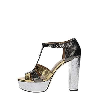 Michael Kors 40R7MEMS1M Sandalo Donna Pelle GUNMETAL GUNMETAL 35