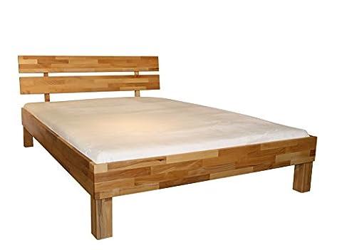 Bett PALMA, Größe 140x200, Buche Massivholz, von MeinMassivholz ® - Made in Germany, Kostenlose Lieferung zum Wunschtermin