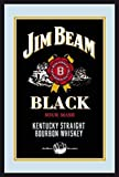Jim Beam Bourbon Whiskey Label Logo black Nostalgie Barspiegel Spiegel Bar Mirror 22 x 32 cm