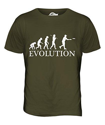CandyMix Frisbee Evolution Des Menschen Herren T Shirt Khaki Grün