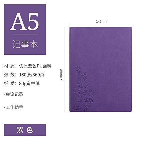 XIAOXINYUAN Modelli Di Notebook A5 Notebook B5 Grandi Notebook Diario Degli Studenti 16K Addensato Ufficio Business Notepad. Violetta