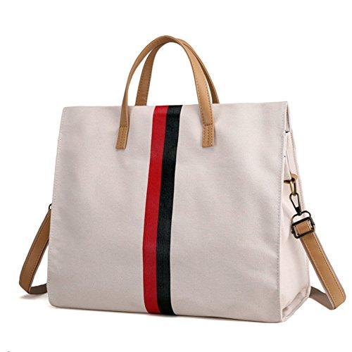 Ladies singola borsa a tracolla,borsa di tela,portatile/messenger bag-IL Riso Bianco IL Riso Bianco