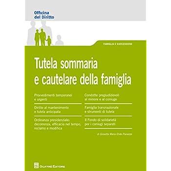 Tutela Sommaria E Procedimenti Cautelari Nel Diritto Di Famiglia