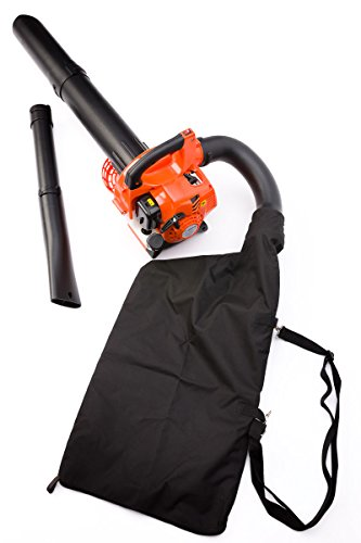 The Timberpro 26cc petrol leaf blower the ideal entry level model at a budget price  Don't be put off by the low price, it packs plenty of power and with an impressive air speed of 140 mph, it shifts even the most stubborn wet leafs.  Comes complete with every including the vacuum set with collection bag.  Comes with 2 years warranty and full spares back up service. You want find a better model for such an amazing price.