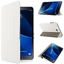 iHarbort® Samsung Galaxy Tab A 10.1 Funda - ultra delgado ligero Funda de piel de cuerpo entero para Samsung Galaxy Tab A 10.1 pulgada (2016 Version SM-T580N SM-T585N) con la función del sueño / despierta (Galaxy Tab A 10.1, blanco)