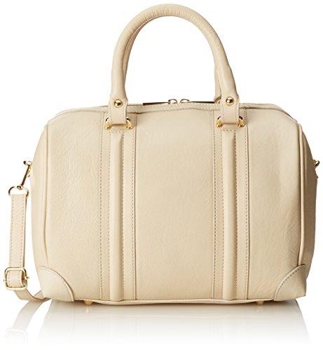 CTM Borsa da Donna Inspired a Mano Elegante, 32x23x18cm, Vera Pelle 100% Made in Italy Beige