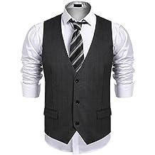 9fd977560836 Lamore Gilet de Costume pour Homme Slim Fit Veste pour Business