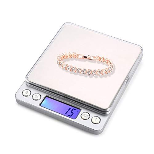 Chengxin Básculas de Cocina Escala electrónica de Alta precisión para joyería de Oro y Diamantes (0.1 g ~ 2000 g) Básculas de Cocina