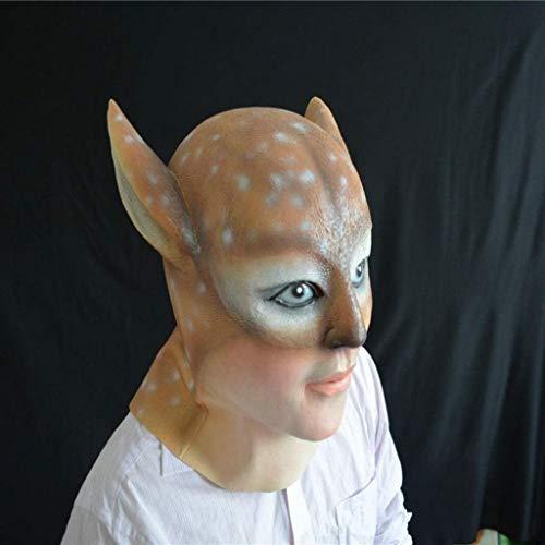 CS-LJ Halloween Masken Kostüm Masken Tierhaube Halloween Hirschkopfhaube Beauty Tierkopf Ork for alle Heiligtümer Allerheiligen (Weihnachten Im Zusammenhang Kostüm)