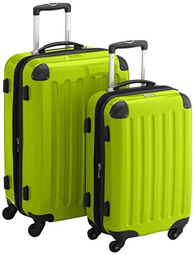 HAUPTSTADTKOFFER - Alex - 2er Koffer-Set Hartschale glänzend, TSA, 65 cm + 55 cm, 74 Liter + 42 Liter, Schwarz-Weiss