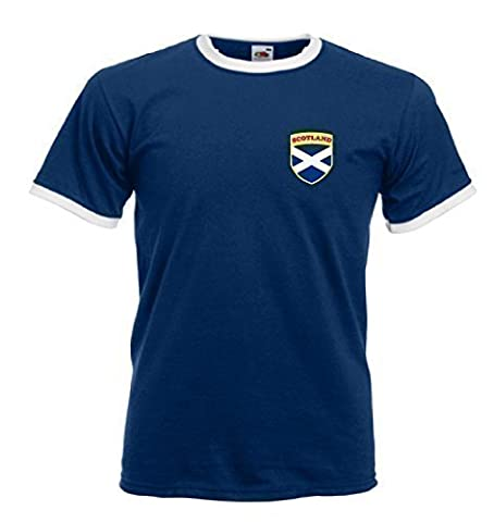 Scotland Scottish Rugby / Football Flag Crest T-Shirt - Large