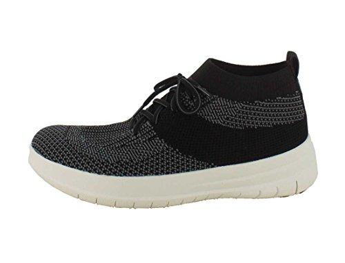 FitFlop Uberknit Slip-on Hohe Top Sneakers Schwarz Anthrazit Noir / Charcoal