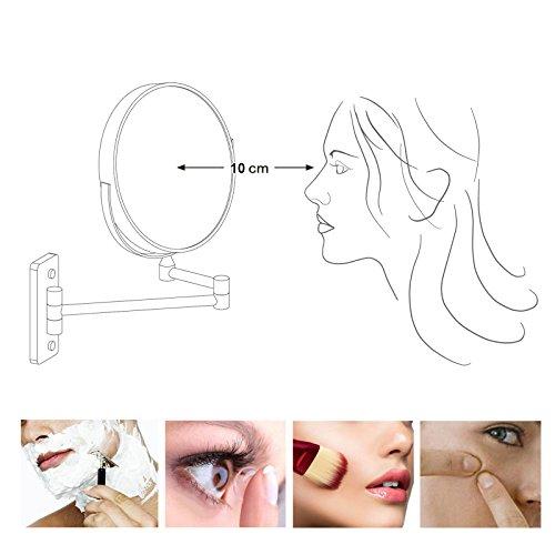 Songmics Kosmetikspiegel 10fach+Nomal Doppelseitiger Schminkspiegel BBM001 - 2