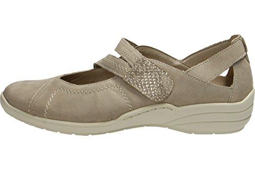 Pistone di signore 37 38 39 40 41 42 in acciaio beige scarpe Remonte R7615-42 grau