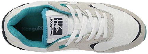 Kangaroos Coil-r2, Herren Sneakers Mehrfarbig (white/smaragd 083)