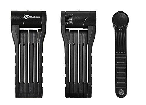 Hysenm Antivol Pliable Anti-crochetage Compact Léger Flexible Robuste Résistant Pour VTT Vélo Route Vélo Pliant Fixie VTC noir