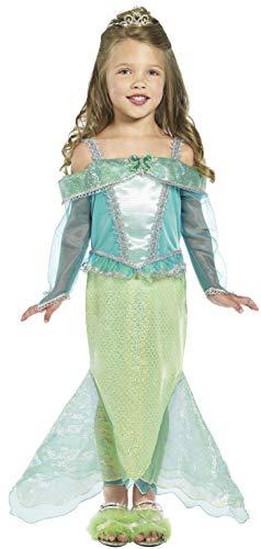 Unter Dem Meer Kostüm Zum - Smiffys Kinder Meerjungfrau Prinzessin Kostüm, Kleid mit Ärmeln, Größe: S, 36165