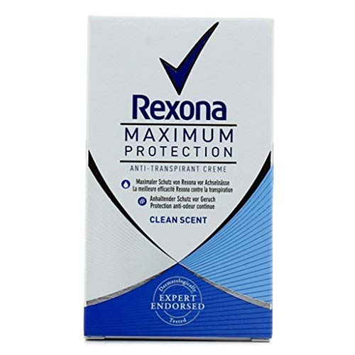 Rexona Maximum Protection Anti-Transpirant Crème Clean Scent 45ml (lot de 4)