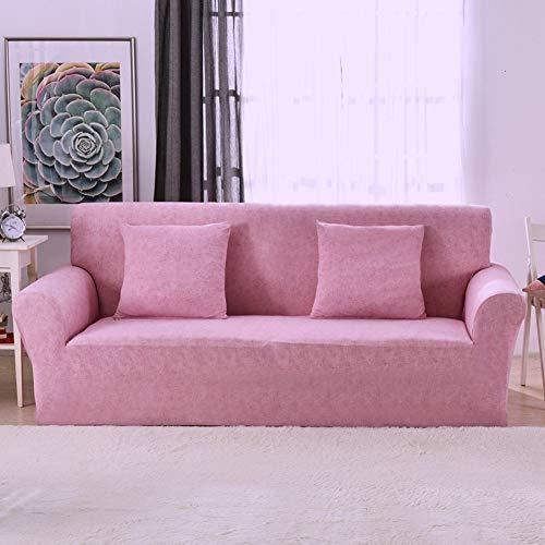 Shauzed Copridivano per Tutte Le Stagioni, Elasticizzato, Antiscivolo, in Poliestere, per divani da 1, 2, 3 e 4 posti, Rosa, 2 Seater:145-185cm