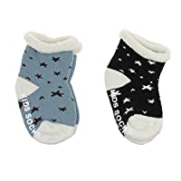 2 Pairs Baby Socks Newborn Infants Toddlers Baby Girls Boys Thicken Cotton Socks Elastic Ankle Footsocks