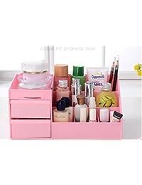 Syga Plastic Storage Box, Pink (Cosmetic Storage Box with Drawer_Pink)
