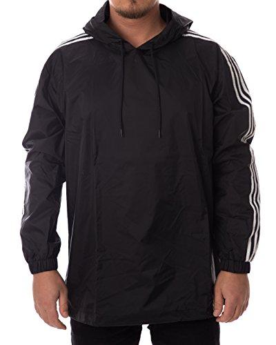 adidas Poncho Windbreaker Herren Jacke, Black/White, M