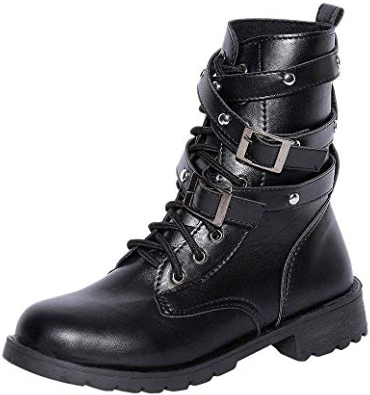 Oudan Bottes Bottes pour Femmes Chaussures pour Femmes Bottes Oudan Plates et Plates Martin Chaussures pour Femmes Bottes à...B07KHYWG9MParent 08efa1