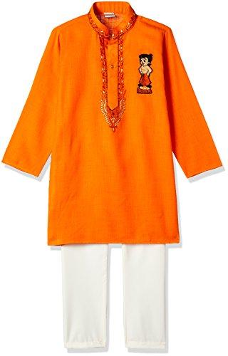 Chhota Bheem Boys' Kurta Pyjama (GGAPP-CB519D_Orange_7-8 yrs)